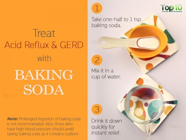 baking soda to treat acid reflux (GERD)