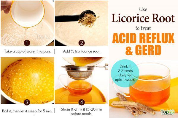 licorice root to treat acid reflux
