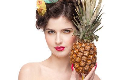pineapple glowing skin