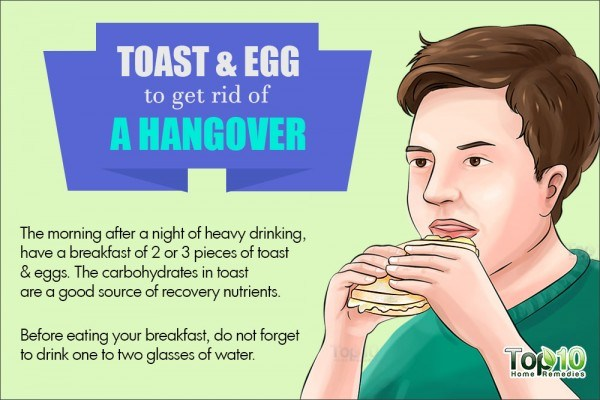 toast and egg to treat hangover