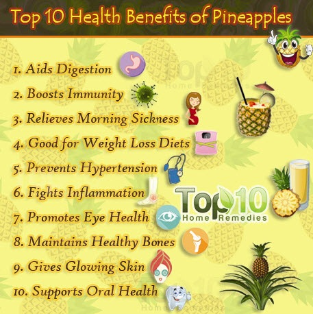 top 10 health benefits of pineapples