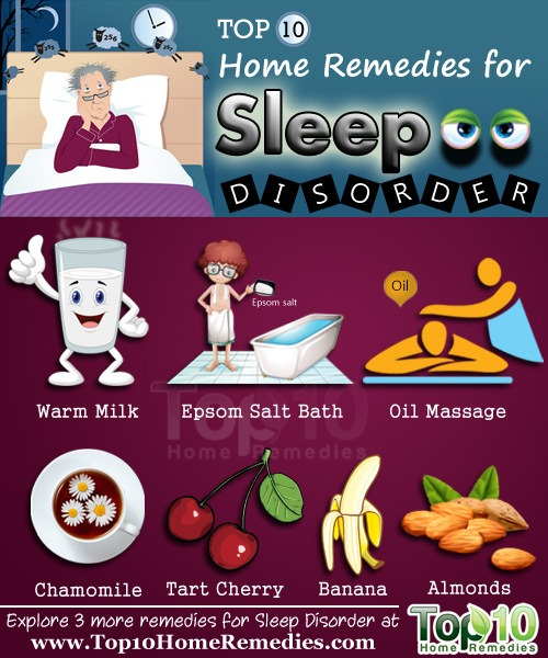 Trouble sleeping at night home remedies
