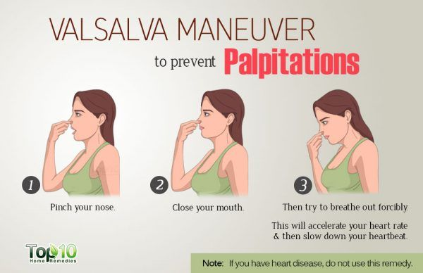 do valsulva maneuver to prevent palpitation