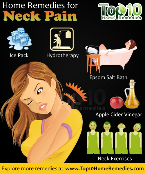 neck pain home remedies