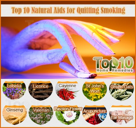 top 10 natural aids for quitting smoking