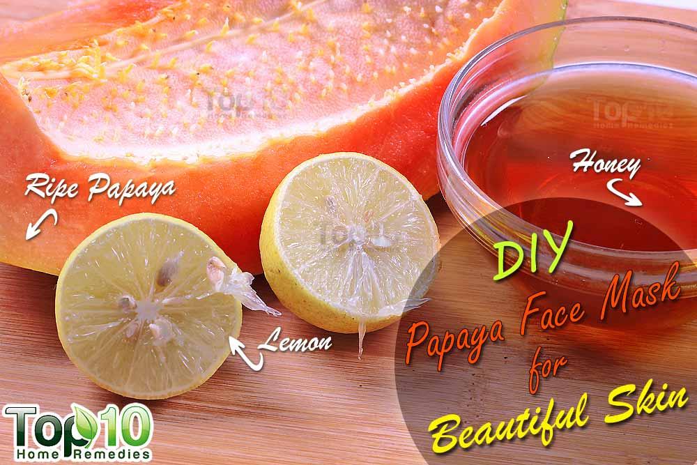 Homemade fruit enzyme facial masks
