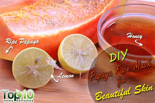 DIY papaya face mask ingredients