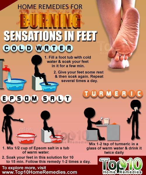 home remedies for burnung senations on feet