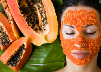 Papaya face mask for beautiful skin