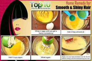 home remedy for smooth and shiny hair