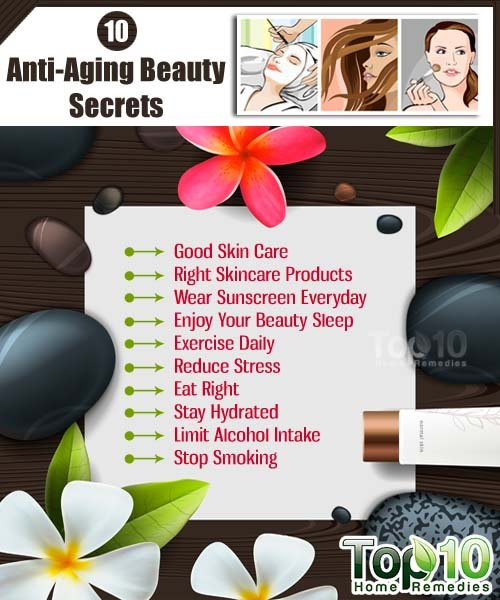 10 Anti Aging Beauty Secrets Top 10 Home Remedies