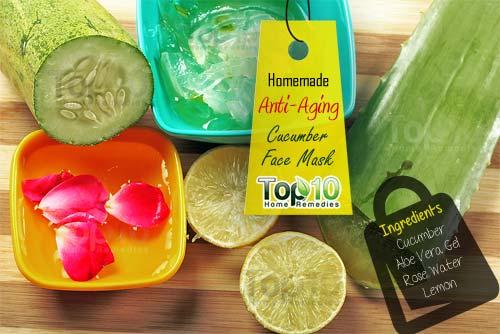 DIY cucumber anti aging mask ingredients