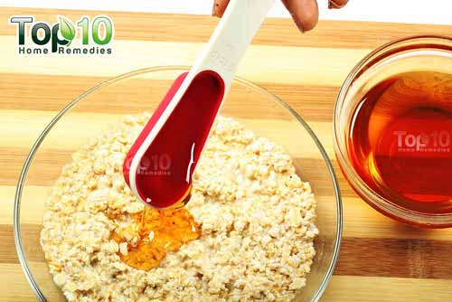 DIY oatmeal mask for eczema step3