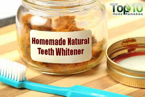 homemade teeth whitener