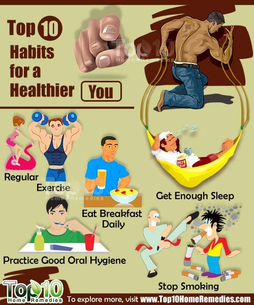 top 10 habits for healthier you