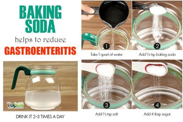 baking soda remedy for gastroenteritis