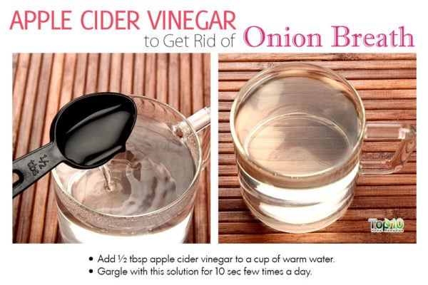 apple cider vinegar for onion breath