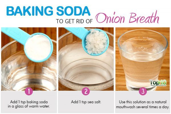 use baking soda to get rid of onion breath