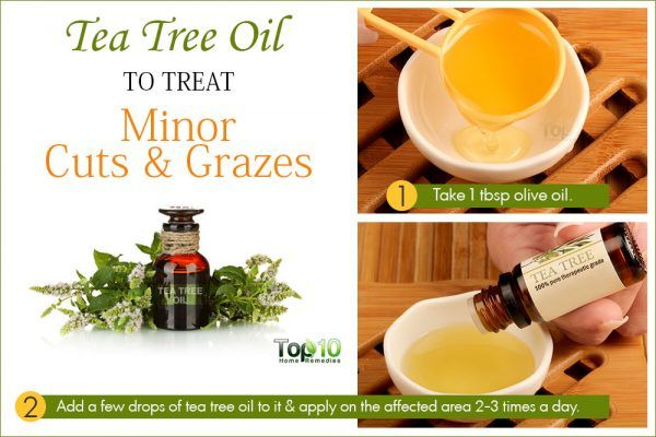 tea tree oil for minor cuts and grazes