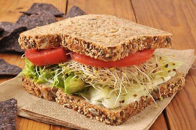 whole wheat veggie sandwich