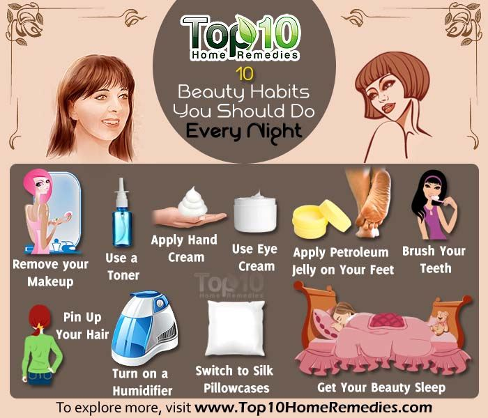 Things to Do Before Bed Beauty