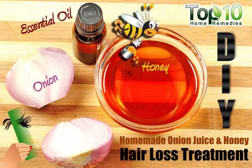 DIY onion hair mask ingredients