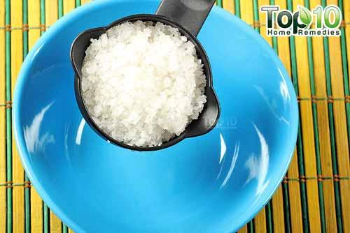 DIY sea salt citrus scrub step1