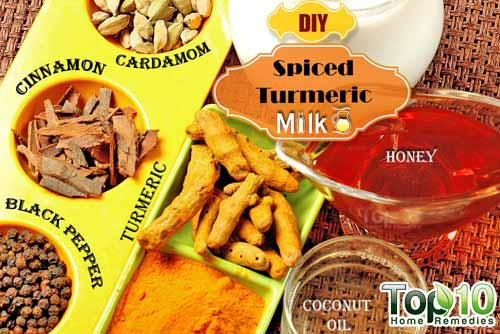 DIY spiced turmeric milk ingredients