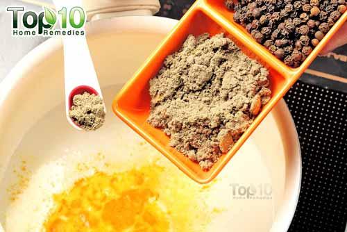 DIY spiced turmeric milk step3