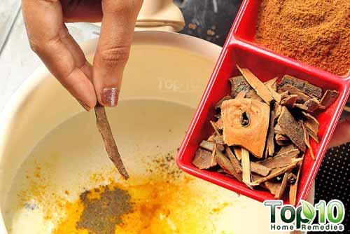 DIY spiced turmeric milk step 4