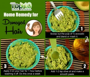 damaged hair avocado remedy