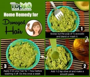 damaged hair avocado remedy