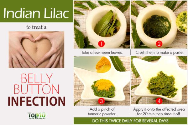 neem to treat belly button infection