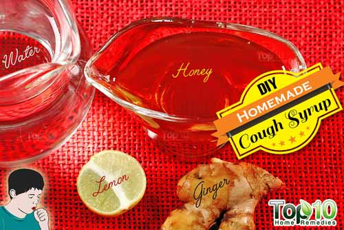 DIY cough syrup ginger ingredients