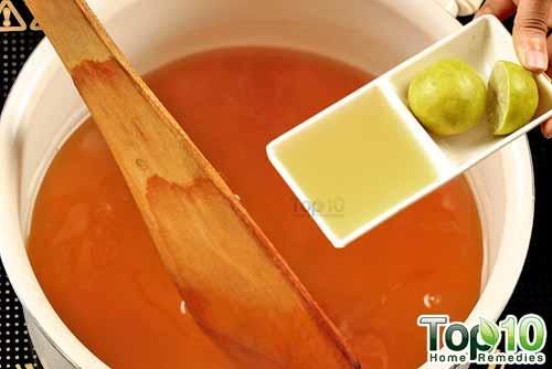 DIY cough syrup ginger step10