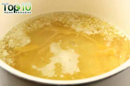 DIY cough syrup ginger step 6