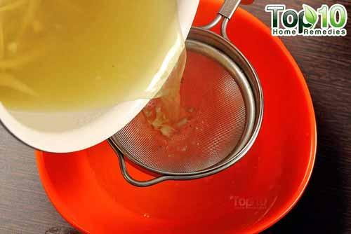 DIY cough syrup ginger step7