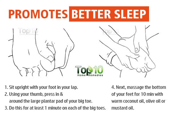 foot massage for better sleep
