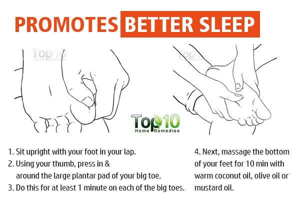 foot massage for better sleep
