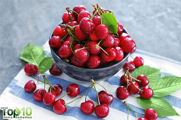 cherries to lower uric acid in body