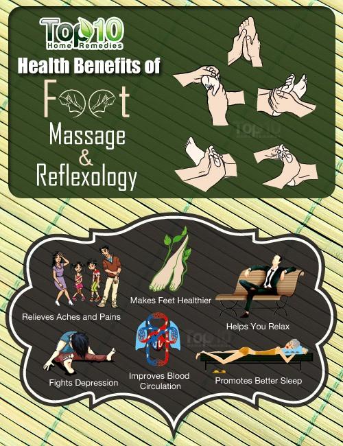 benefits of foot masssage and reflexology