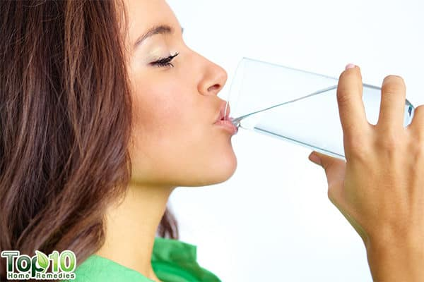 drink plenty of water to flush out excess uric acid