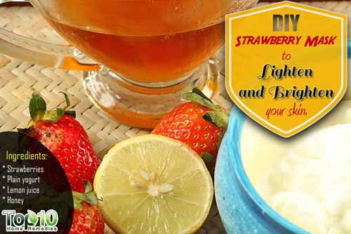 DIY strawberry face mask ingredients