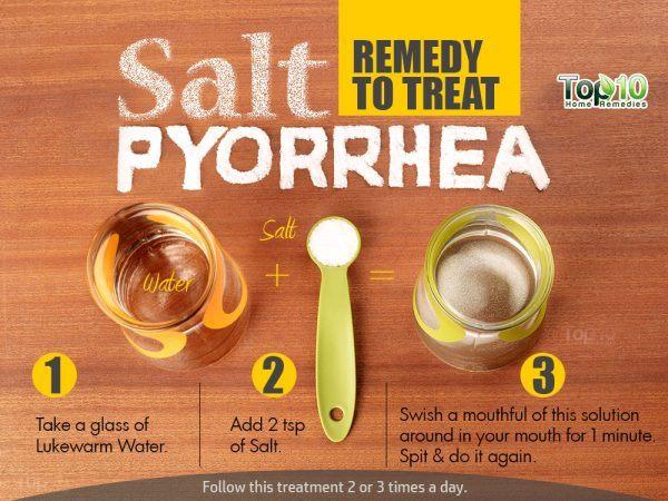 salt remedy to treat pyorrhea