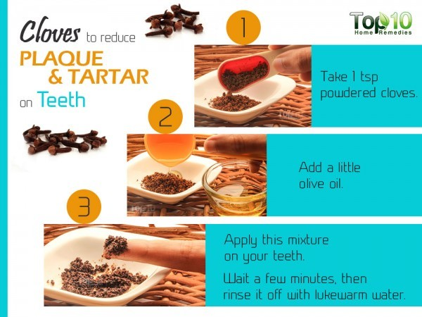 remove plaque and tartar with cloves