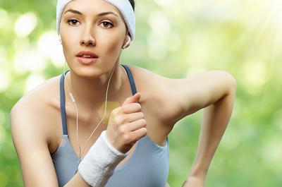 running for skin health