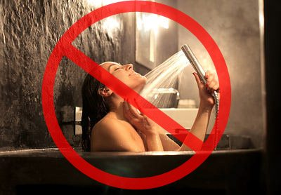 avoid taking shower