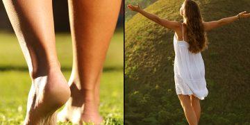 benefits of walking barefoot on grass