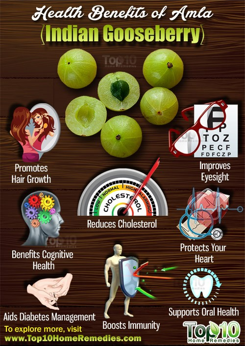 Top 10 Health Benefits Of Amla Indian Gooseberry Top