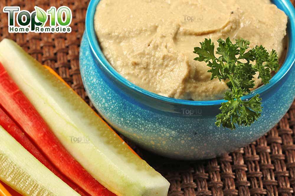 DIY hummus recipe ingredients